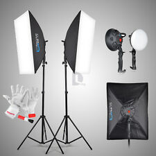2x Pro LED Studio Light +Soft Light Box Studio Photography Shooting Light Kits