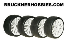 1:8 SWEEP GT 4 Rubber Slick tires NEW White Spoke Rim 40 shore Free delivery SRC