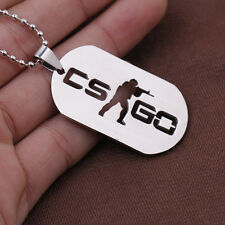 1PC CS GO Cross Fire Model Logo Necklace Pendant Chain Unisex Fans Gift Fashion
