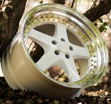 """18"""" ESR SR04 White Wheels For Mazda RX7 3 5 6 MX-5 18x8.5 5x114.3 +30 Rims Set 4"""