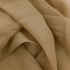"""PLAIN MOCHA/COFFEE VOILE FABRIC+ 60""""WIDE + FREE POSTAGE +SCARF+SWAG+DRAPES+"""