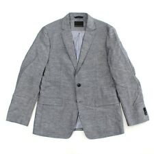 Men's 42R Banana Republic Modern Slim Navy Cotton Linen Blazer Navy Jacket NEW