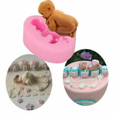DIY pink Bake cake mould sugar baby shape Silicone mold tool Jelly pudding Mold
