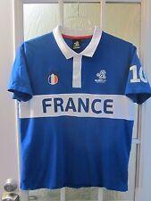 EURO2012 Poland-Ukraine UEFA #10 France Polo Shirt Men L(42/44) **Excellent**