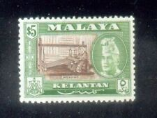 Malaya Malaysia 1957 Kelantan State $5   MNH.