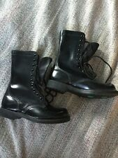 NOS VINTAGE 1990 Made In The USA MILITARY LEATHER COMBAT BOOTS Size 7