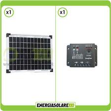 Kit placa solar 10W 12V regulador de carga 5A barco caravana panel fotovoltaico