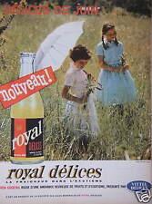 PUBLICITÉ 1962 ROYAL DÉLICES SODA COCKTAIL RICHE DE FRUIT VITTEL - ADVERTISING