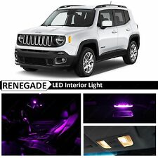 11x Purple Interior LED Lights Package Kit for 2015-2016 Jeep Renegade BU