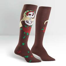 Knee High Socks Brown Dia de los Muertos NWT Women's 9-11 SITM Day of the Dead