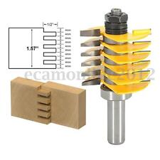 Steel 6 Blades 1/2'' Shank Finger Joint Router Bit for Woodworking Cutter Tool