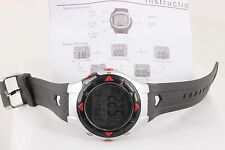 HEART MONITOR CHRONO W/ SENSOR WRISTWATCH W/ MANUAL 7808