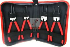 "NEW 4pcs Heavy Duty 7"" Circlip Plier Snap Ring Plier Kit W/ Pouch"