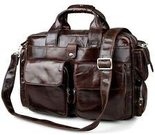 LMD Vintage Men's Genuine Leather Briefcase Business Laptop Messenger bag