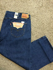 NWT Levi's 501 BIG & TALL 60X32 Straight Leg Button Fly Dark Stonewash MSRP $74