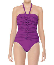 NWT Spanx Braided Core One Piece Purple Passion Bathing Swim Suit Size 8 $199
