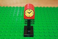 Lego Duplo Eisenbahn Sonderstein Uhr mit Ständer Bahnhof schwarz Zubehör 4913