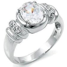 Ladies 925 Sterling Silver Cubic Zirconia CZ Fashion Dress Ring Size 9, NEW