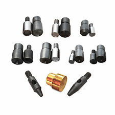 9 dies tools kit set for double and single cap rivets with hole punch tools Sa23