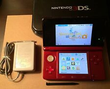 Nintendo 3DS Launch Edition Flame Red Handheld System + Pokemon White Bundle