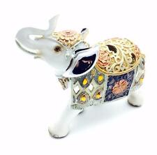 New Pearly White Elephant Figurine Ornament Gift Boxed 15cm 66022