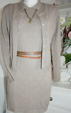 By timo ti Mo tricot fin-robe Dress polo manches courtes toffee size: xs NEUF