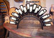 Weinfassbogen-Weinregal für 19-21 Flaschen, Eichenfass, Holzregal, Flaschenregal