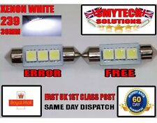 2x 3SMD 36mm LED Xenon White Number Plate bulbs Bmw Mini R50 & Cooper S 01-04