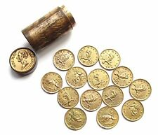 1815 SET 14 x GILT MEDALS 'BRITISH VICTORIES IN THE PENINSULA' IN ORIGINAL TUBE