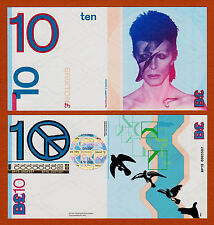 England,s Transition Town Brixton 10 Pounds DAVID BOWIE 2011 Gem UNC
