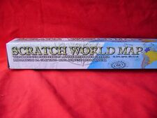 NEW SCRATCH OFF WORLD MAP POSTER MARK PLACES YOU'VE BEEN TRAVEL MAPS POSTERS