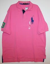Polo Ralph Lauren Big and Tall Mens Chroma Pink Big Pony Polo Shirt NWT 2XB