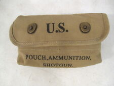 WWII Era Canvas Shotgun Ammunition Shot Shell Pouch - Dated 1942 - Reproduction