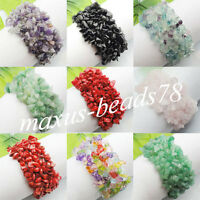 Free Shipping Chips Gemstone Beads Weave Stretch Bracelet MBH006