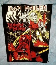 Rare Original Vintage Iron Maiden 1980'S Jacket Back Patch 80'S Backpatch Unused