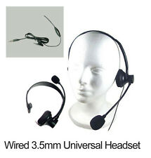 3.5mm Over the Head Hands Free Headset with Boom Mic for Home Office Cell Phones