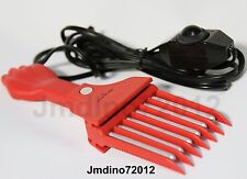 Afro Red Hot Pick  Heated Hair Comb And Beard Comb-Barber Favored