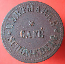 Old Rare Deutsche token -CAFE SCHONEBERG (now Berlin) -UNLISTED -mehr am ebay.pl