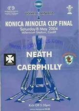 Neath v Caerphilly - Welsh (Konica Minolta) Cup Final 2004 RUGBY PROGRAMME