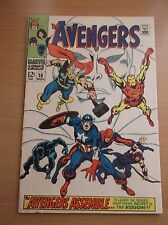 MARVEL: THE AVENGERS #58, 2ND APPEARANCE OF VISION, 1968, FN- (5.5)!!!