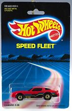 Hot Wheels Speed Fleet Camaro Z-28 Red With Gold Hot Ones MOC 1987