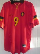 Belgium Mpenza 9 1998 Home Football Shirt XL /40957