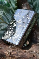 Zippo Lighter - Filigree Pattern - Black Ice - Model: 28833