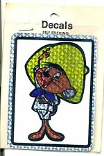 vtg prismatic sticker novelty Looney Tunes Speedy Gonzales retro van biker