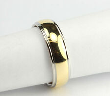 Mens 18K Yellow Gold & Platinum 2-Tone Christian Bauer Comfort Fit Band 8 1/2