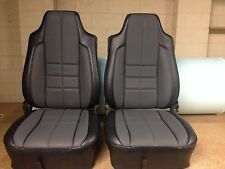 Lx Torana Slr Fronts Only Seat Covers,slate+grey Golfball Inserts,AUSSIE MADE