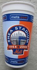 NY Mets Shea Stadium 2008 Fan Collector Cup Final Year Excellent Condition 32 oz