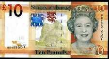 JERSEY   10 POUNDS  2010  Prefix BD - P 34  Uncirculated Banknotes