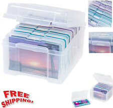 Craft Storage Box Container Organizer Keeper Plastic Case Photo Postcard Utility