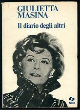 MASINA GIULIETTA  IL DIARIO DEGLI ALTRI SEI 1975 FATTI E LA VITA CINEMA FELLINI